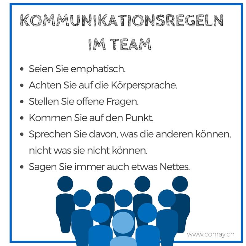 Kommunikationsregeln im Team
